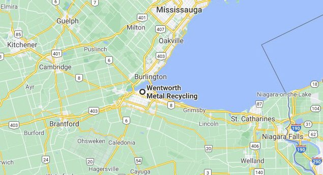 Metal Recycling Service Area Map