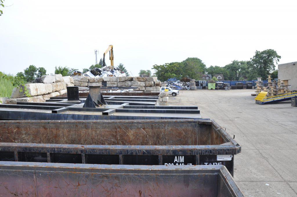 Bins for Scrap metal for businesses.