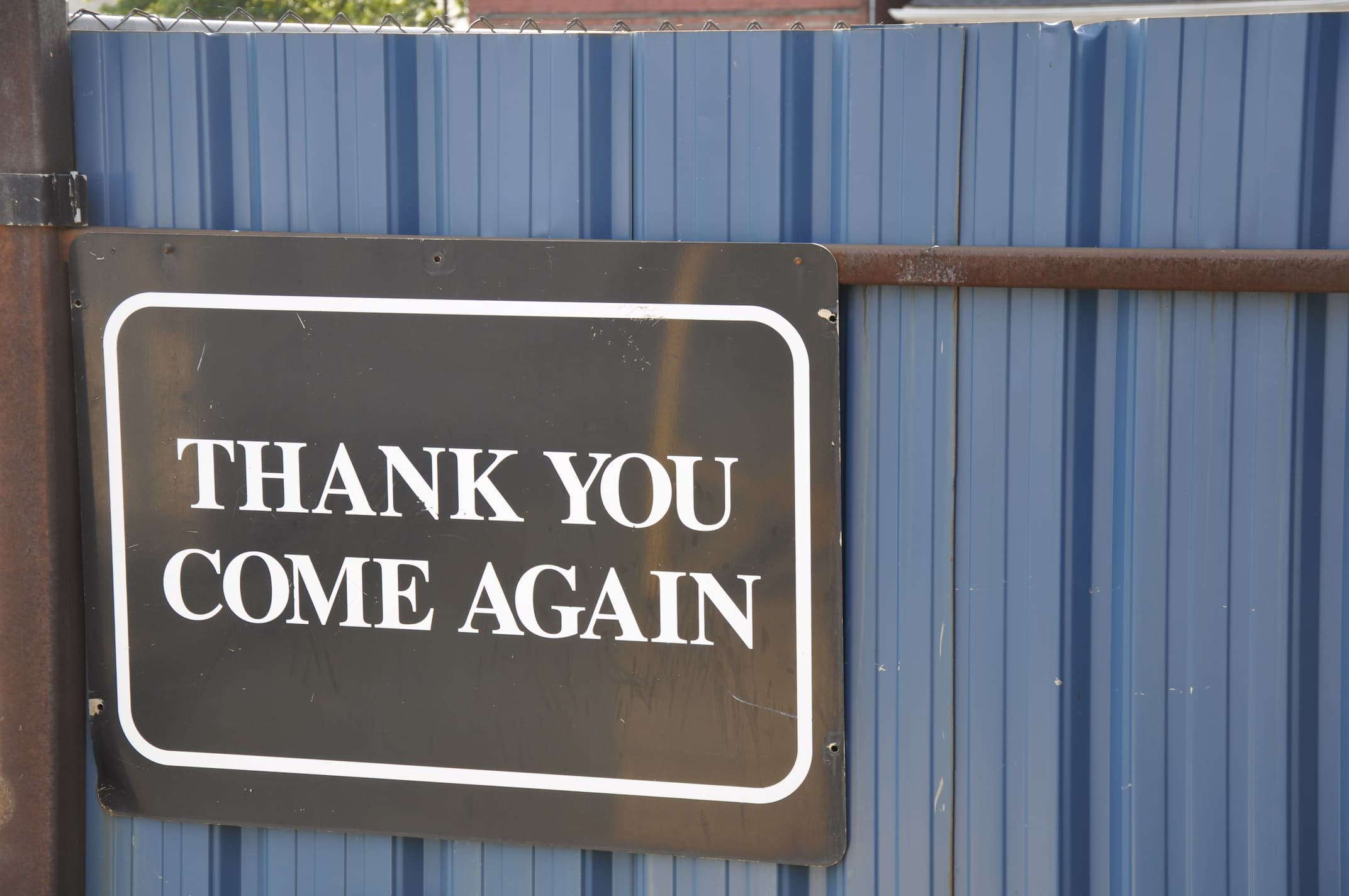 Scrap_Metal_Recycling_Yard_Come_again_sign_Wentworth Metal Recycling_495 Wentworth-St-N- Hamilton-ON