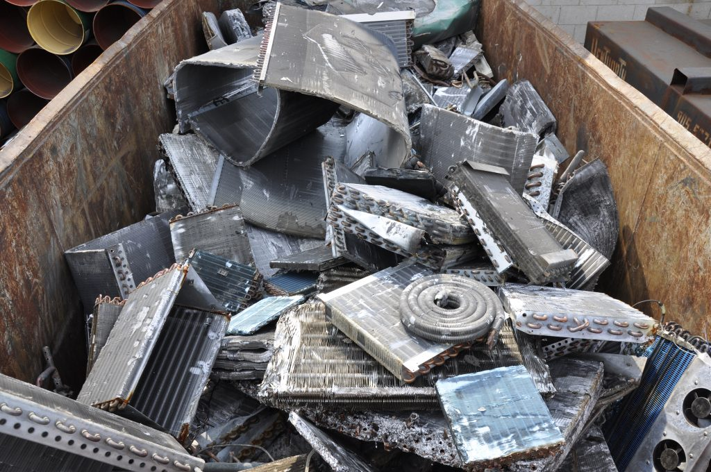Scrap metal container.
